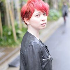 外国人風 ショートボブ レッド ショート ヘアスタイルや髪型の写真・画像