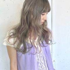 グラデーションカラー ガーリー アンニュイ ロング ヘアスタイルや髪型の写真・画像