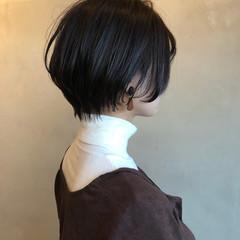 ベリーショート ナチュラル ミニボブ ウルフカット ヘアスタイルや髪型の写真・画像