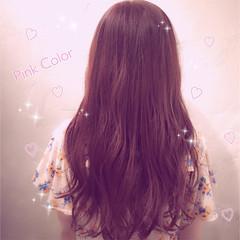 ピンク 色気 おフェロ イルミナカラー ヘアスタイルや髪型の写真・画像