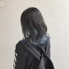ブリーチ セミロング ハイトーン コンサバ ヘアスタイルや髪型の写真・画像