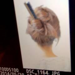 アップスタイル ショート ヘアアレンジ 簡単ヘアアレンジ ヘアスタイルや髪型の写真・画像