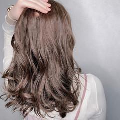 大人可愛い 外国人風カラー セミロング 髪質改善トリートメント ヘアスタイルや髪型の写真・画像