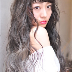 フェミニン 透明感 ハイライト ロング ヘアスタイルや髪型の写真・画像