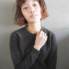 ウェーブ ラフ パーマ ショートバング ヘアスタイルや髪型の写真・画像
