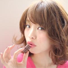 大人かわいい ナチュラル ブラウン 外国人風 ヘアスタイルや髪型の写真・画像