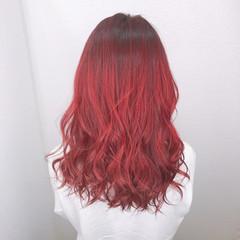 ブリーチカラー エレガント 髪質改善カラー セミロング ヘアスタイルや髪型の写真・画像