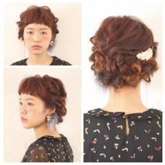 ミディアム 外国人風 大人かわいい ヘアアレンジ ヘアスタイルや髪型の写真・画像