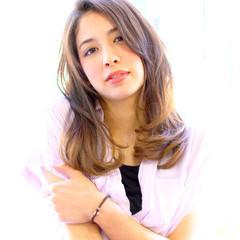 モテ髪 大人かわいい ナチュラル ガーリー ヘアスタイルや髪型の写真・画像