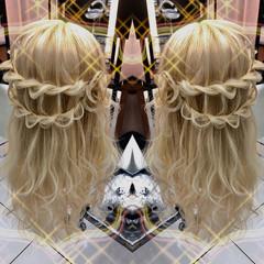 結婚式 パーティ ヘアアレンジ モード ヘアスタイルや髪型の写真・画像