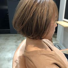 横顔美人 ショートボブ ボブ ブリーチカラー ヘアスタイルや髪型の写真・画像