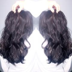 セミロング コンサバ ゆるふわ 暗髪 ヘアスタイルや髪型の写真・画像