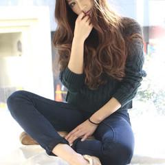 アッシュ ハイライト 大人かわいい 外国人風 ヘアスタイルや髪型の写真・画像