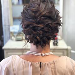 パーティ ヘアアレンジ 上品 シニヨン ヘアスタイルや髪型の写真・画像