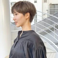 コンパクトショート ナチュラル マッシュショート 横顔美人 ヘアスタイルや髪型の写真・画像