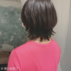 モード アンニュイほつれヘア ウルフカット 外ハネボブ ヘアスタイルや髪型の写真・画像