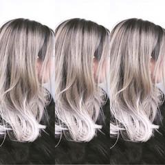 ナチュラル グラデーションカラー バレイヤージュ ユニコーンカラー ヘアスタイルや髪型の写真・画像