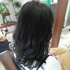アッシュグレー アッシュ ナチュラル セミロング ヘアスタイルや髪型の写真・画像