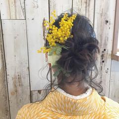 学校 ヘアアレンジ ナチュラル ロング ヘアスタイルや髪型の写真・画像