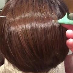 ボブ 髪質改善トリートメント ナチュラル 髪質改善 ヘアスタイルや髪型の写真・画像