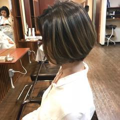 外国人風カラー 外国人風 ボブ フェミニン ヘアスタイルや髪型の写真・画像