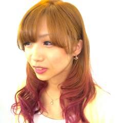 愛され レッド ピンク コンサバ ヘアスタイルや髪型の写真・画像