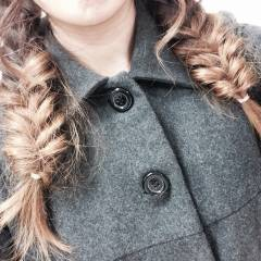 ロング くるりんぱ モテ髪 ヘアアレンジ ヘアスタイルや髪型の写真・画像