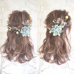 大人かわいい ヘアアレンジ ミディアム 結婚式 ヘアスタイルや髪型の写真・画像
