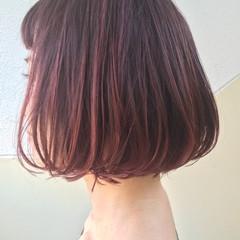 ラベンダーアッシュ ボブ グレージュ ラベンダー ヘアスタイルや髪型の写真・画像