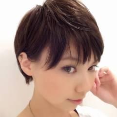 大人かわいい ショート ストリート 丸顔 ヘアスタイルや髪型の写真・画像