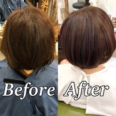 髪質改善 ナチュラル ボブ 美髪 ヘアスタイルや髪型の写真・画像