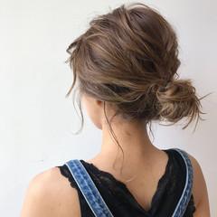 ミディアム 涼しげ デート 簡単ヘアアレンジ ヘアスタイルや髪型の写真・画像