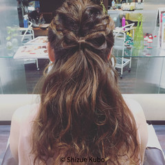 パーティ ロング ヘアアレンジ 波ウェーブ ヘアスタイルや髪型の写真・画像