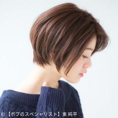 色気 ショート ボブ 簡単ヘアアレンジ ヘアスタイルや髪型の写真・画像