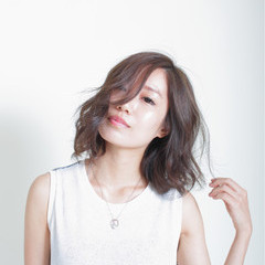 色気 大人かわいい 3Dカラー フェミニン ヘアスタイルや髪型の写真・画像