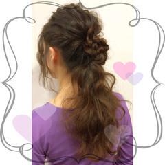 簡単ヘアアレンジ 外国人風 ショート ハーフアップ ヘアスタイルや髪型の写真・画像
