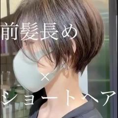 ショートヘア ハンサムショート ひし形シルエット ショート ヘアスタイルや髪型の写真・画像