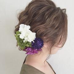 ヘアアレンジ ロング 夏 編み込み ヘアスタイルや髪型の写真・画像