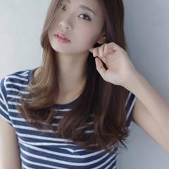 大人かわいい かっこいい ナチュラル ロング ヘアスタイルや髪型の写真・画像