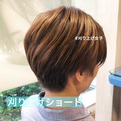 ショートヘア ショート 刈り上げショート 刈り上げ ヘアスタイルや髪型の写真・画像
