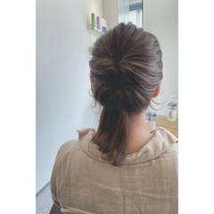 フェミニン ヘアカラー セミロング オーガニックカラー ヘアスタイルや髪型の写真・画像