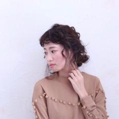 ピンク ポニーテール ピュア 冬 ヘアスタイルや髪型の写真・画像