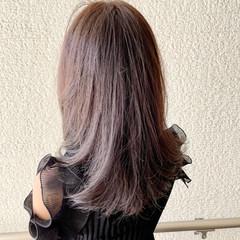 透明感グレージュ ロング 抜け感 透明感カラー ヘアスタイルや髪型の写真・画像