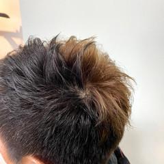 アッシュ ストリート デザインカラー ショート ヘアスタイルや髪型の写真・画像
