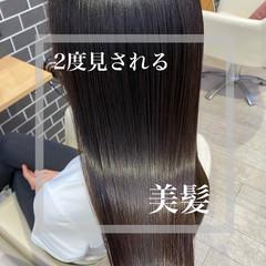 ロング 美髪 ナチュラル 髪質改善 ヘアスタイルや髪型の写真・画像