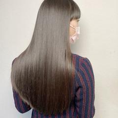 髪質改善トリートメント ツヤ髪 前髪 ナチュラル ヘアスタイルや髪型の写真・画像