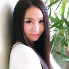 レイヤーカット 暗髪 ストレート ロング ヘアスタイルや髪型の写真・画像