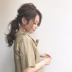 ロング ナチュラル 透明感 ヘアアレンジ ヘアスタイルや髪型の写真・画像
