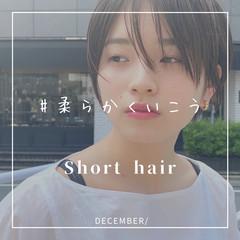 前髪なし 大人ショート ショートヘア ショート ヘアスタイルや髪型の写真・画像