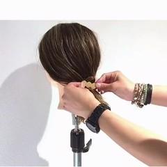 ロング 簡単ヘアアレンジ アウトドア リラックス ヘアスタイルや髪型の写真・画像